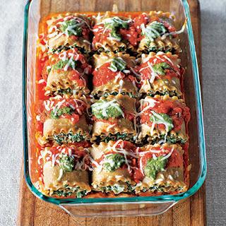 Spinach and Pesto Lasagna Roll-Ups Recipe