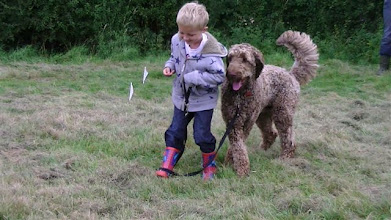 Photo: Will looks relieved with his new partner, Brian Labradoodle, who's putting his best paw forward...