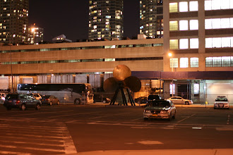 Photo: The parking lot for the Intrepid museum.
