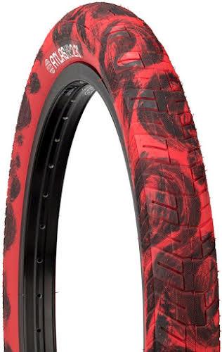 "Fiction BMX Atlas Tire 20"" x 2.3"" HP Red/Black"