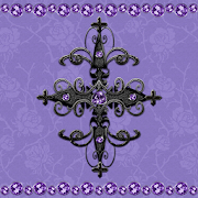 Purple Gothic Cross Go Locker theme