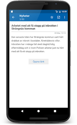 Polisens RSS - screenshot