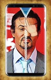 Sylvester Stallone Zipper Lock Screen - náhled