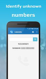 CallerInfo: Caller ID, Number lookup, Number book 2