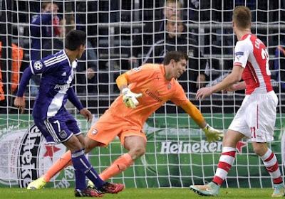 Anderlecht s'effondre en fin de match face à Arsenal (1-2)