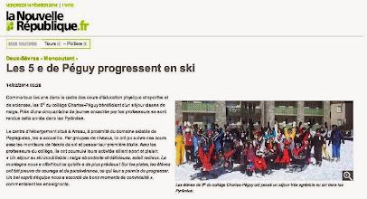 Photo: 2014-02-14 NR Les 5èmes de Péguy progressent en ski