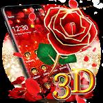 3D Gold Rose Theme Icon