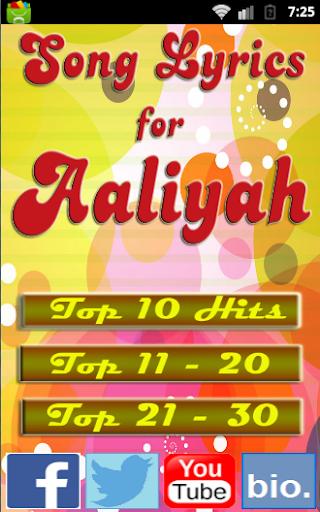 Songs for AALIYAH