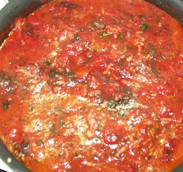 My Basic Pasta Sauce { No Meat }