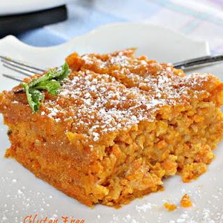 Gluten Free Carrot Souffle.