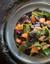 Photo: 63.Orange Thyme Salad with Glazed Beets and Spiced Walnuts Blog- Rawmazing   Your name: Susan Powers Your blogs name and URL: Rawmazing  www.Rawmazing.com Title/caption for your photo: Orange Thyme Salad with Glazed Beets and Spiced Walnuts URL of the post where the photo appears: http://www.rawmazing.com/orange-thyme-salad-with-glazed-beets-and-spiced-walnuts/ What camera and lens you used: Nikon D4, Lens: 105mm f2.8 vr