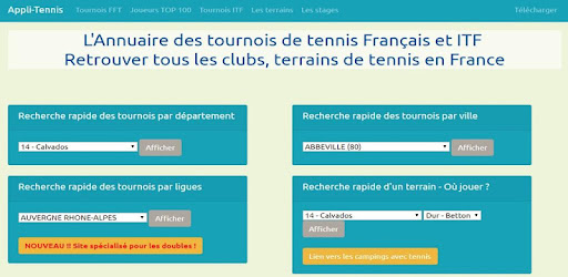 All your 2019 Tennis tournaments in France and ITF 'World Tour', and much more