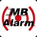 Bike alarm GPS icon