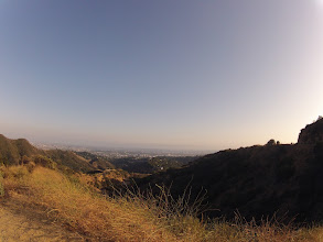 Photo: View of the city of Los Angeles in the distance