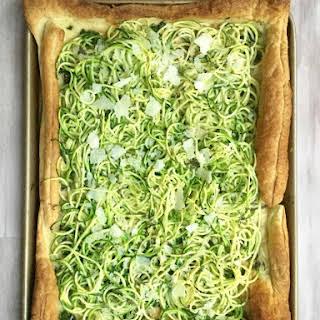 Zucchini Pesto Tart.