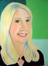 Photo: New Portrait ~ acrylic on BFK Rives