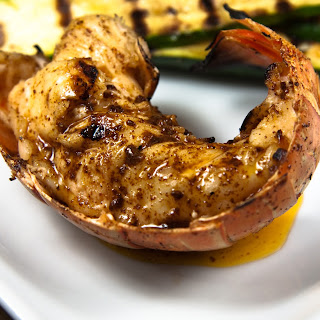 Grilled Lobster Tail with Chili-Lime Butter