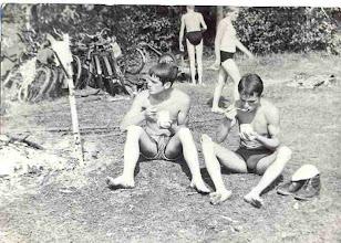 Photo: Jozef Hanus i Maciej Horodniczy na biwaku