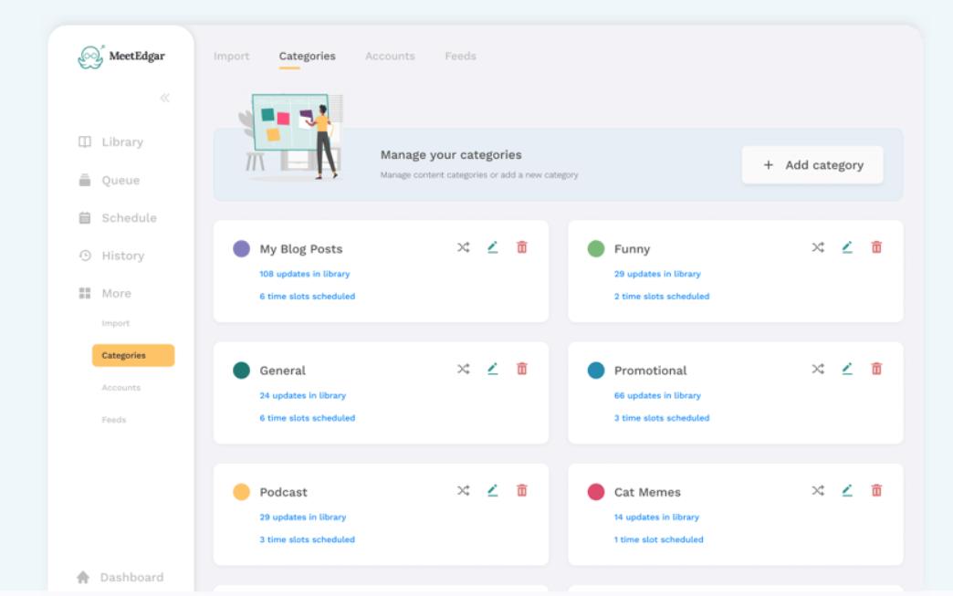 MeetEdgar - Social Media Scheduling Tool