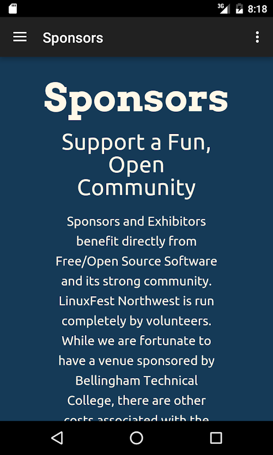 LinuxFest Northwest- screenshot