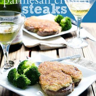 Parmesan Crusted Steaks.