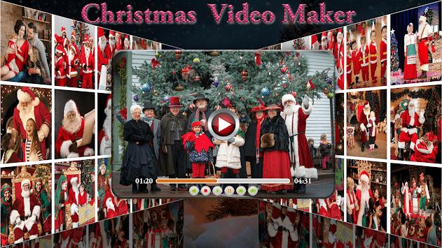 christmas video maker christmas slideshow maker poster