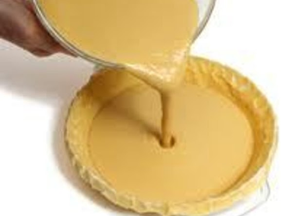 Fill with a custard filling, such as pumpkin, chess, or chocolate custard pie filling....