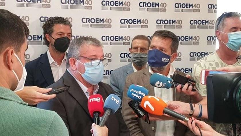 El presidente de Coexphal, Juan Antonio González, tras la reunión en Murcia