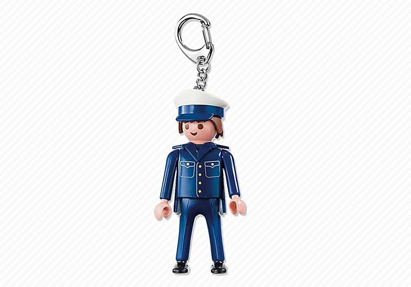 Contenido real de Playmobil® 6615 Llavero Policía