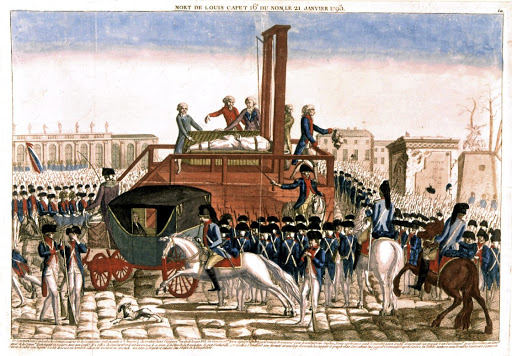 The execution of the last French monarch Louis XVI, in 1793. The writer says rule by birthright is an outdated form of government which has over the years held humankind back. /UIG/Getty Images