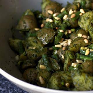 Pesto Potato Salad with Green Beans.