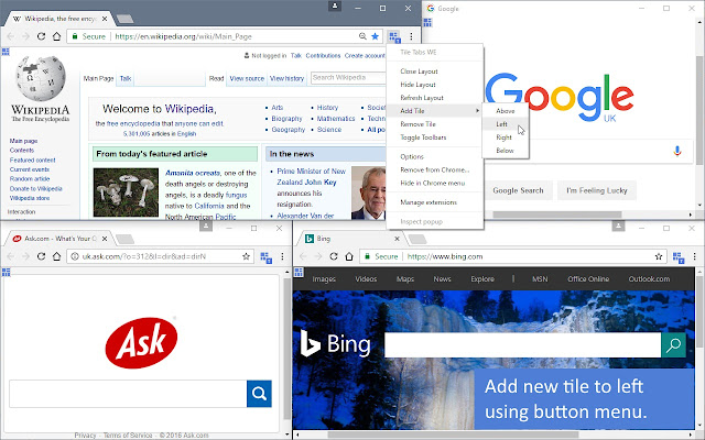 Take Tabs From A Parent Window And Arrange Them In Layout Of Tiled Sub Windows