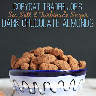 Copycat Trader Joe's Sea Salt & Turbinado Sugar Dark Chocolate Almonds