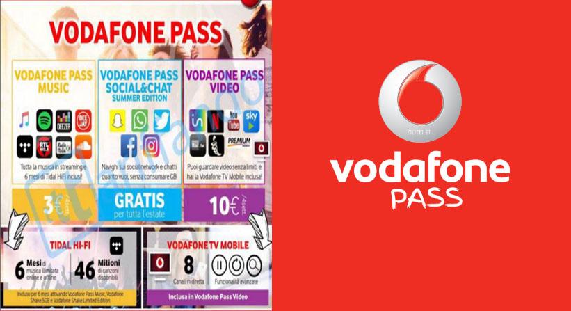 Vodafone Pass: Youtube e Netflix senza consumare Giga a 10 euro