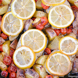 Lemon Garlic Chicken with Roasted Vegetables