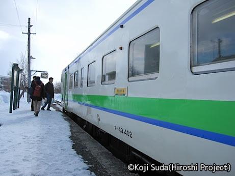 JR北海道 学園都市線 キハ40-402 新十津川駅にて その3
