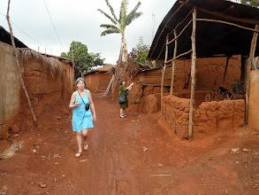 Photo: aux murs en  terre de barre