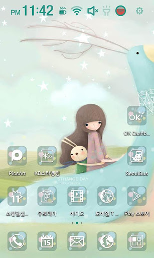 Strange day Launcher Theme