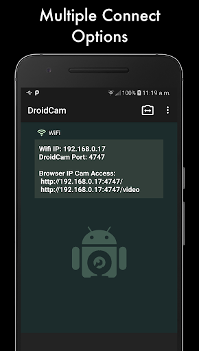 DroidCam Wireless Webcam 6.8.1 Screenshots 1
