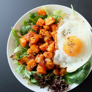 Spicy Butternut and Egg Salad.