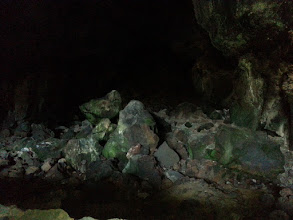 Photo: volcanic caves from hot lava