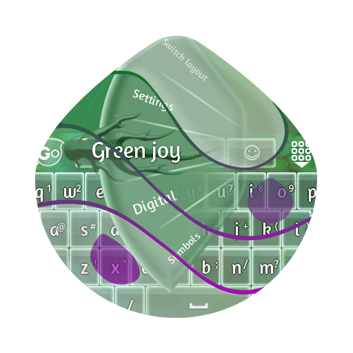 绿色的喜悦 GO Keyboard 個人化 LOGO-玩APPs