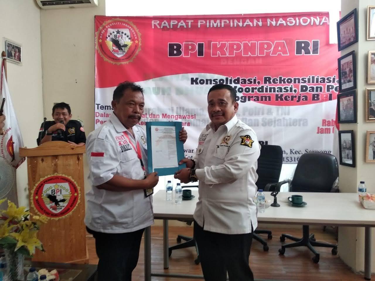 BPI KPNPA RI akan adakan Rapat Kerja Wilayah, Sejumlah Pejabat Negara & Daerah dianugerahkan BPI Award