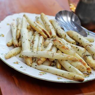 White Asparagus with Lemon Sauce.