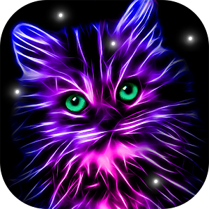 Neon animals wallpaper moving backgrounds android apps - Moving animal wallpapers ...