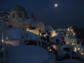 Photo: Oia under the moon