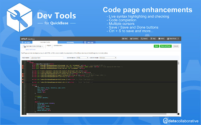Dev Tools for QuickBase