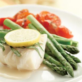 Poached Cod & Asparagus.