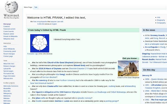 HTML Prank
