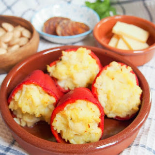 Salt Cod Stuffed Piquillo Peppers.